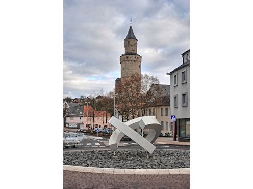 Kreiselkunstwerk in Limburger Straße - Am Hexenturm in Idstein