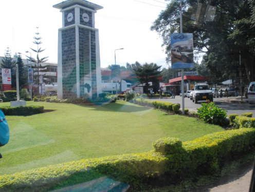 Kreiselkunstwerk in Clocktower Roundabout in Arusha